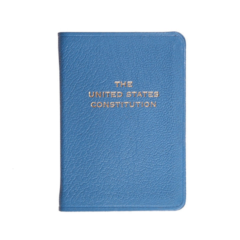 MINI LEATHER BOOK - GI - UNITED STATES CONSTITUTION - BLUE