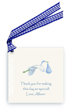 BLUE STORK - GIFT TAG