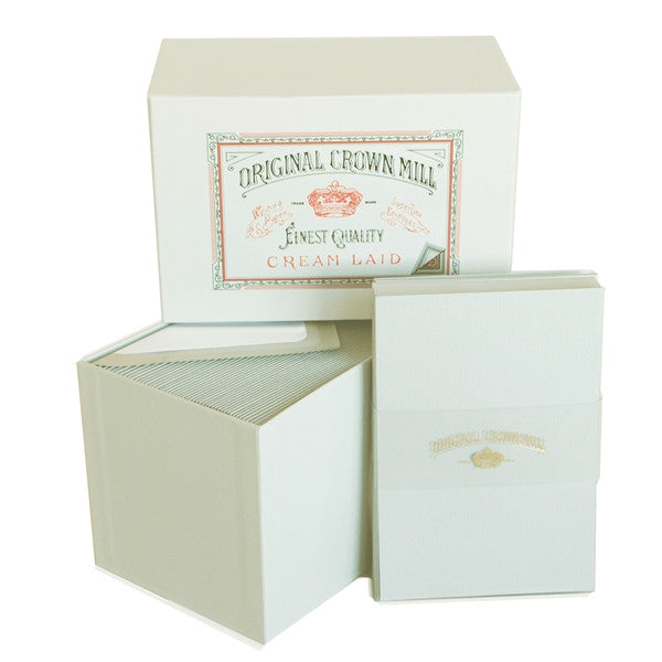 BOXED NOTE CARDS - OCM - CREAM CARDS SET OF 50