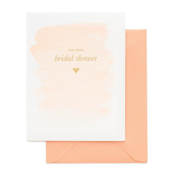 For your bridal shower greeting card bethesda fine stationery for your bridal shower greeting card m4hsunfo