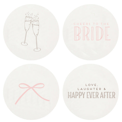 COASTERS  - HP - WEDDING LARGE BOX SET OF 100 LETTERPRESSED