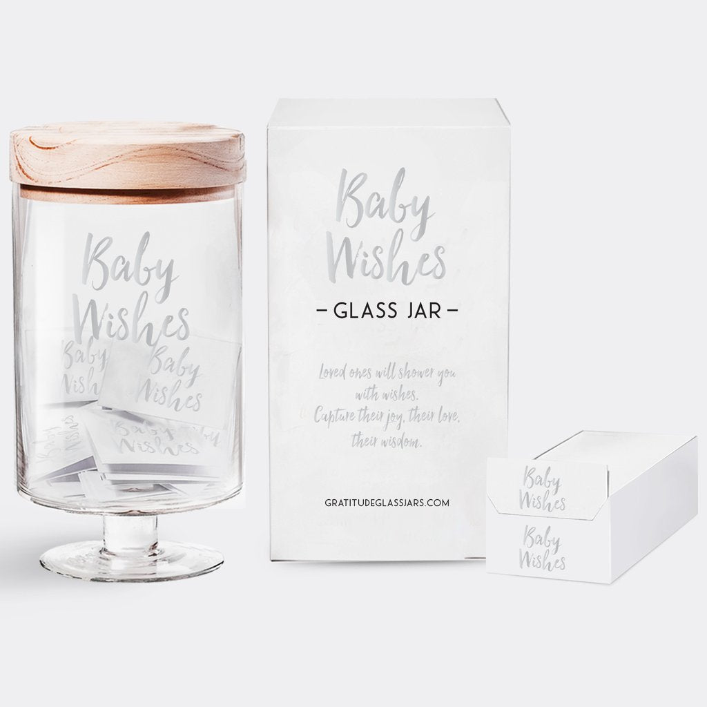 GRATITUDE GLASS JAR - CS - BABY WISHES