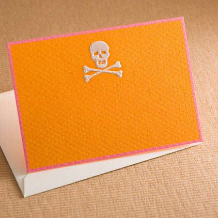ENCLOSURE CARDS - TP - SKULL - ENGRAVED