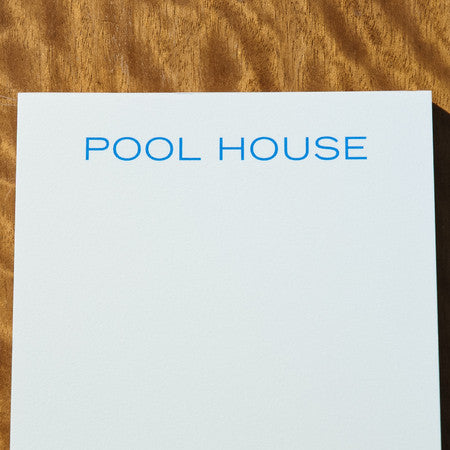 NOTEPAD - TP - POOL HOUSE