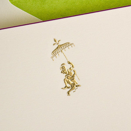 BOXED FILL-IN CARDS - TP - FANCY MONKEY - ENGRAVED