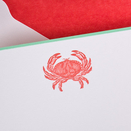NOTE CARDS - TP - RED CRAB - ENGRAVED