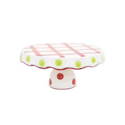CHRISTMAS CAKE STAND -MSC- GINGHAM