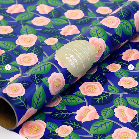 WRAPPING PAPER - CC - CAMELIA PINK ROSES