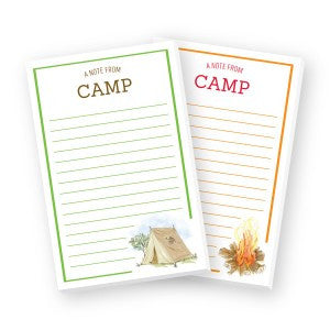 NOTE PAD - DON -  A NOTE FROM CAMP