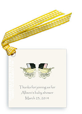 TWIN CARRIAGES - GIFT TAG