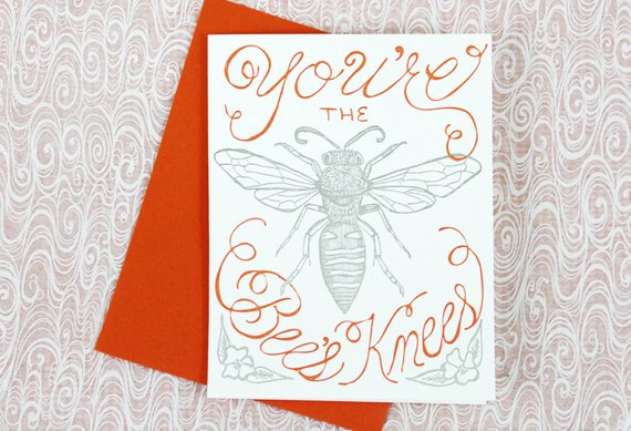 GREETING CARD - CBL - BEES KNEES