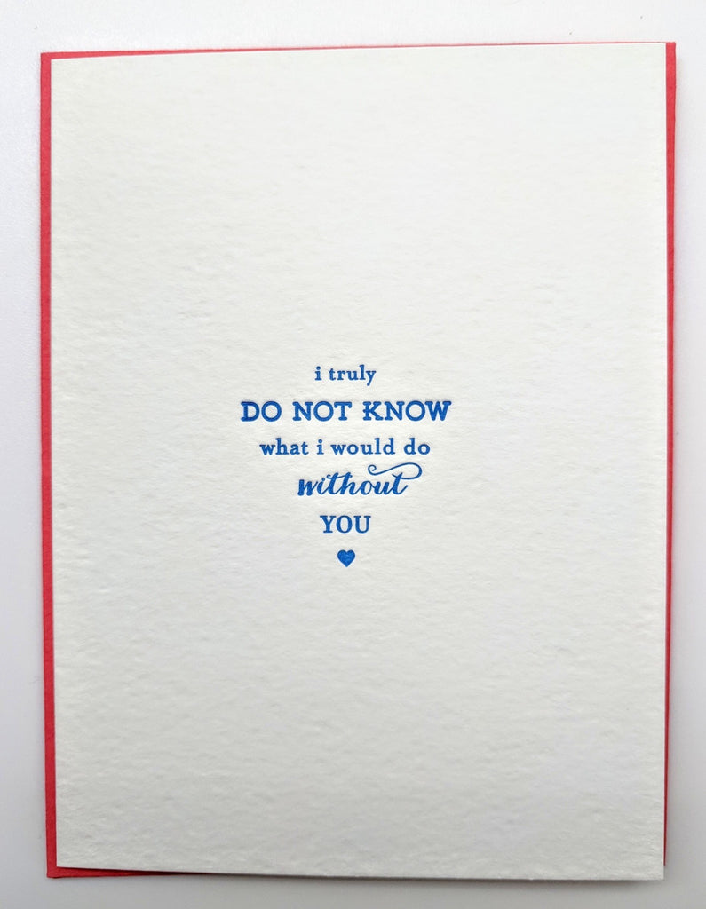 GREETING CARD - CBL - WITHOUT YOU