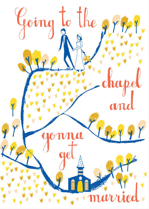 GOING TO THE CHAPEL - WEDDING CARD