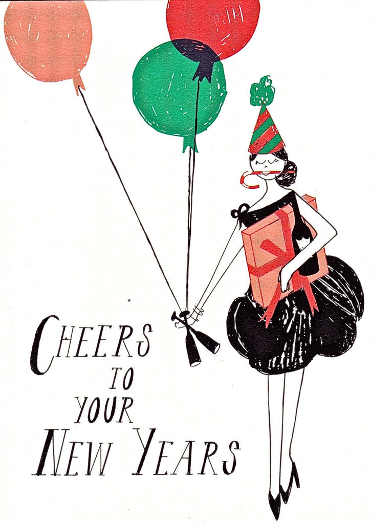 NEW YEARS CARD  - MRB - CHEERS