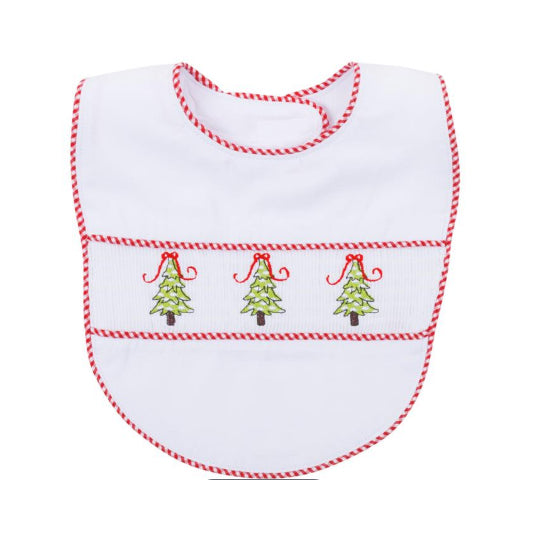 BABY BIB - MSC - EMBROIDERED CHRISTMAS BIB TREES BOY OR GIRL