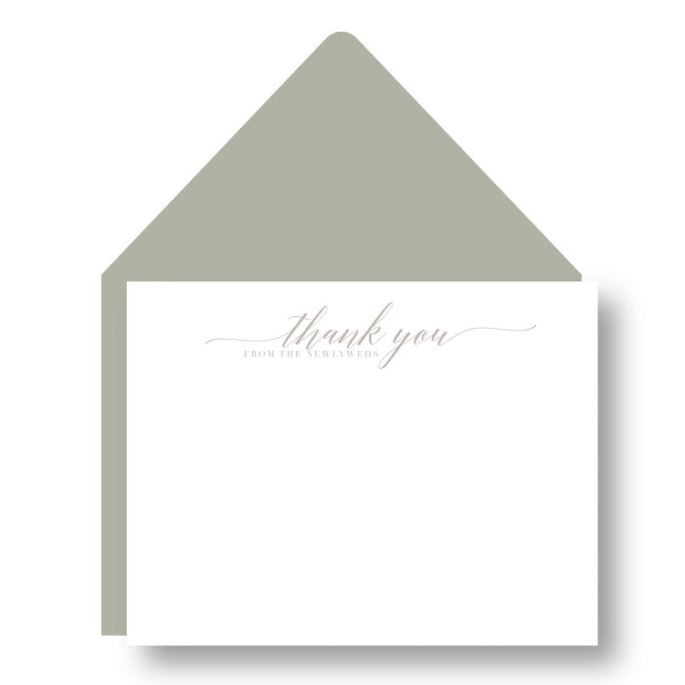 THANK YOU NOTES - HP - FROM THE NEWLYWEDS LETTERPRESS