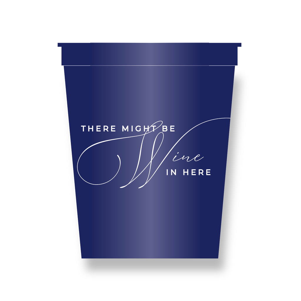 STADIUM CUPS - HP - ...WINE IN HERE ... .SET OF 8 CUPS 22 OZ