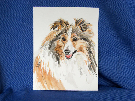 COLLIE - NOTE CARDS
