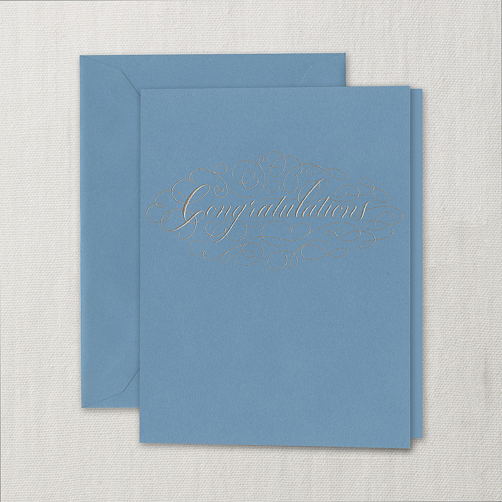 CONGRATULATIONS - CCO - WELL DONE SILVER ENGRAVED CARD