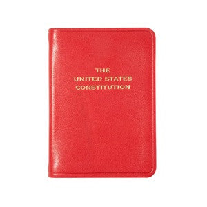 MINI LEATHER BOOK - GI - UNITED STATES CONSTITUTION - RED