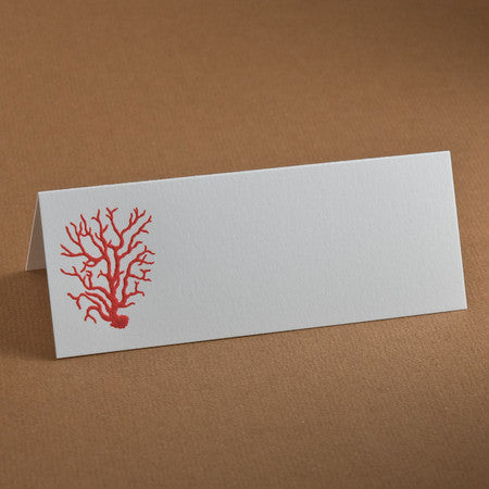PLACE CARDS - TP - CORAL ENGRAVED SET OF 10