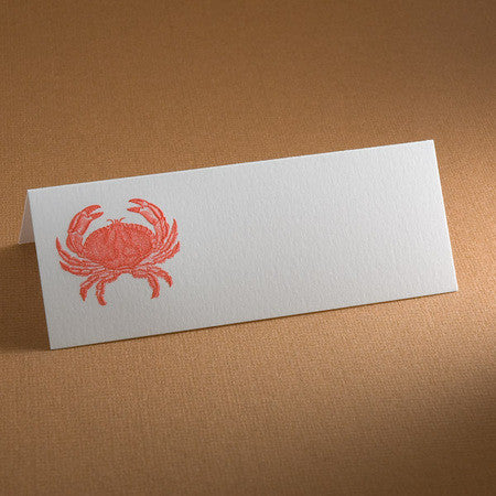 PLACE CARDS - TP - CRAB - ENGRAVED