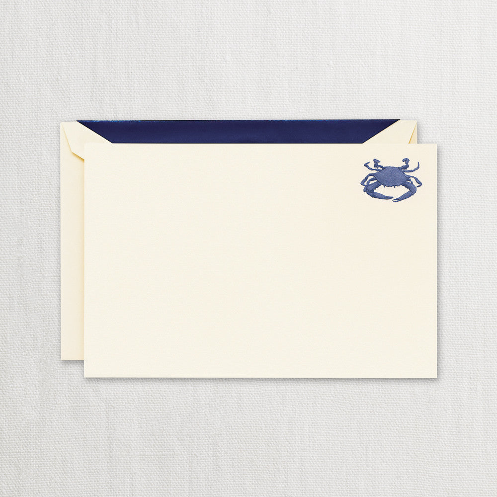 ENGRAVED CRAB CORRESPONDENCE CARD