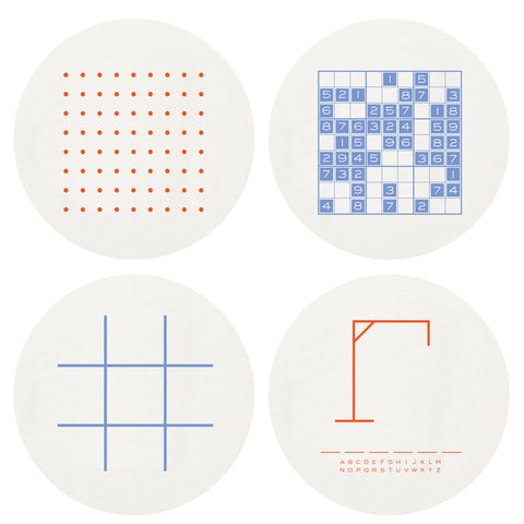COASTERS - HP - GAMES LARGE BOX SET OF 100 LETTERPRESSED