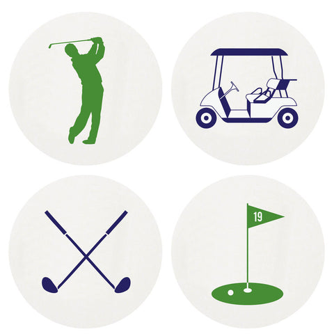 LETTERPRESSED GOLF COASTERS LARGE BOX OF 100