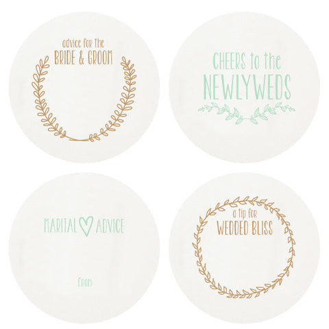 LETTERPRESSED NEWLYWEDS COASTERS LARGE BOX SET OF 100
