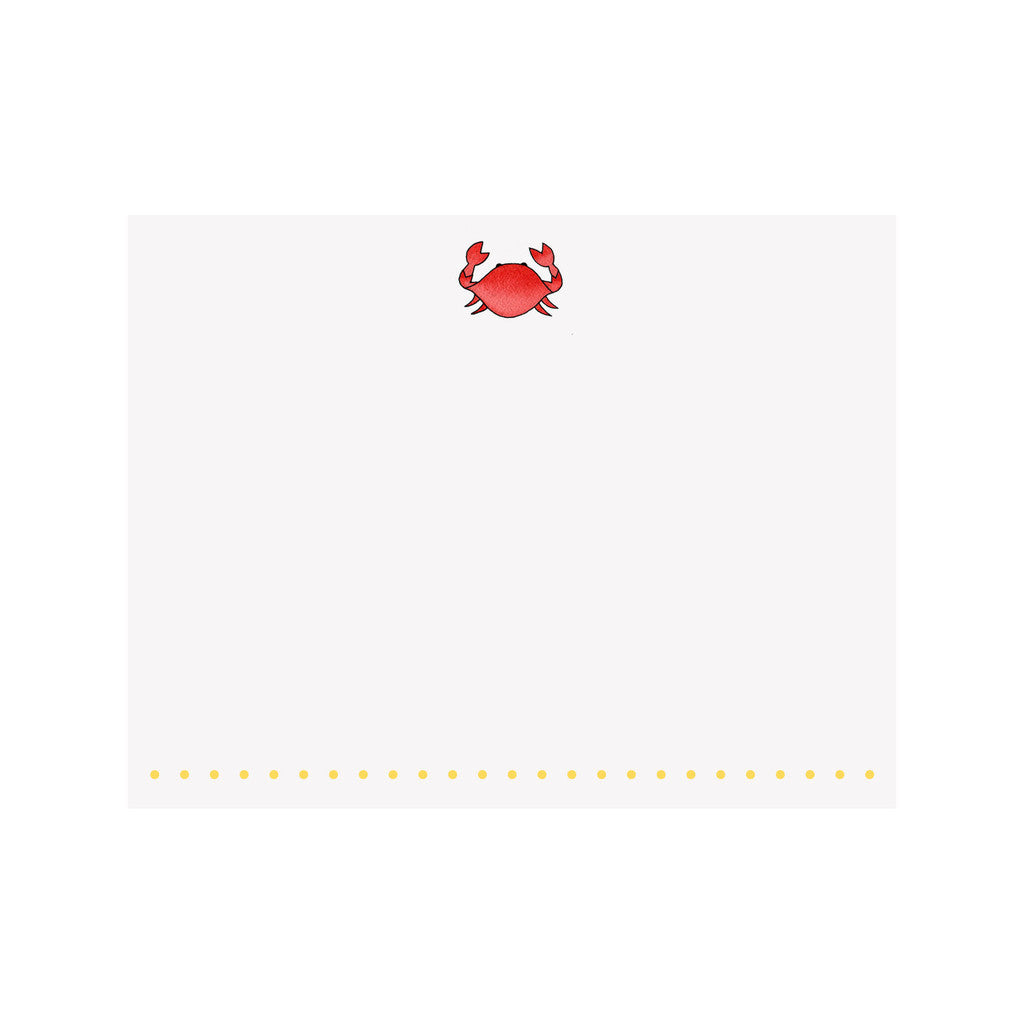 BOXED NOTE CARDS - BI - RED CRAB