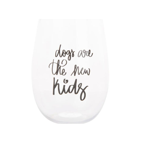 WINE GLASS -MSC- DOGS ARE THE NEW KIDS
