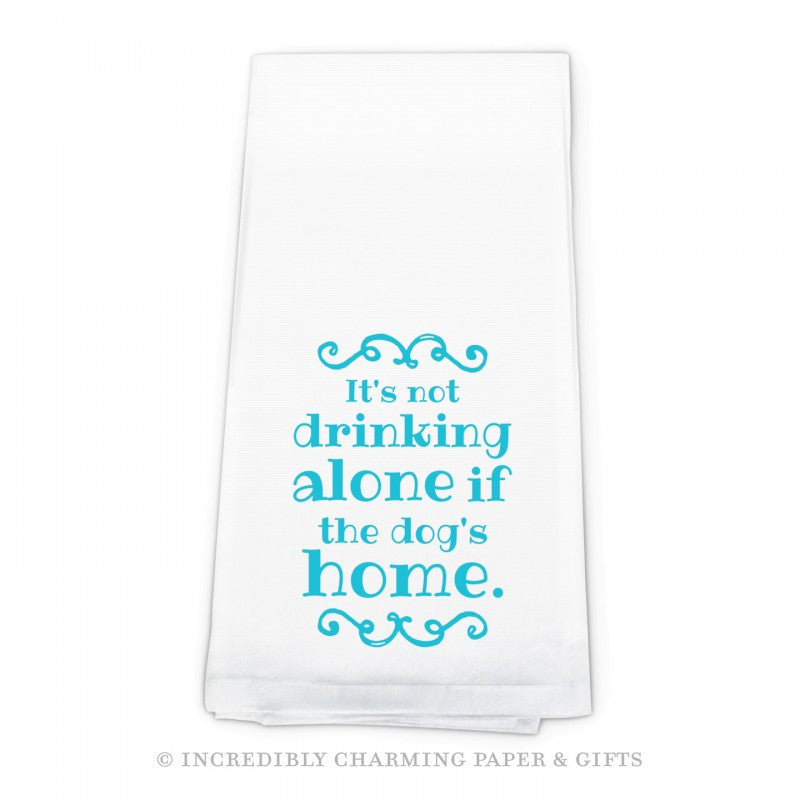 BAR TOWEL DOG - ICPG - DRINKING ALONE