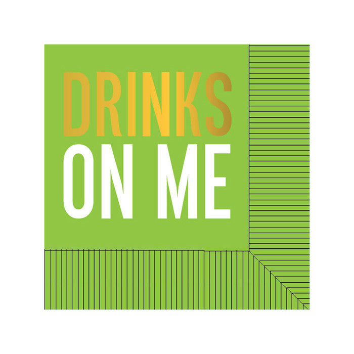 BEVERAGE NAPKINS - RAB- DRINKS ON ME