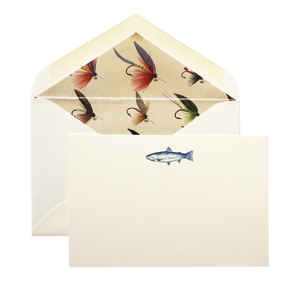 BOXED NOTE CARDS - D&C - DERIAN FLY FISHER