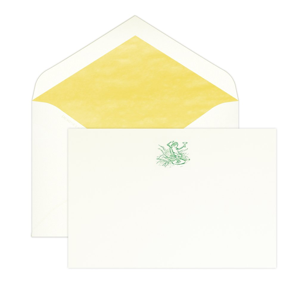 BOXED NOTE CARDS - D&C - COCKTAIL FROG