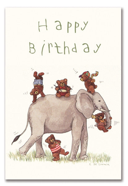 HAPPY BIRTHDAY ELEPHANT - GREETING CARD