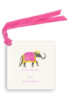 ORIENTAL ELEPHANT - GIFT TAG