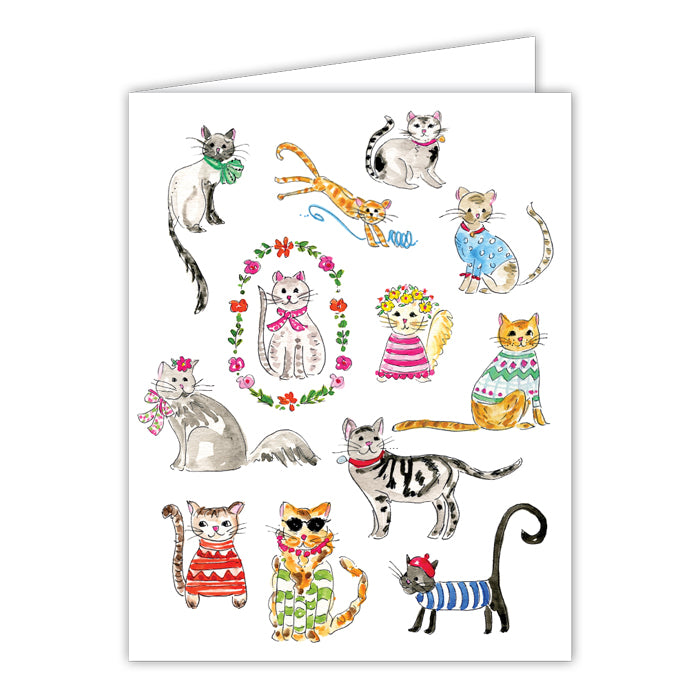 RAB- FANCY FELINES GREETING CARD