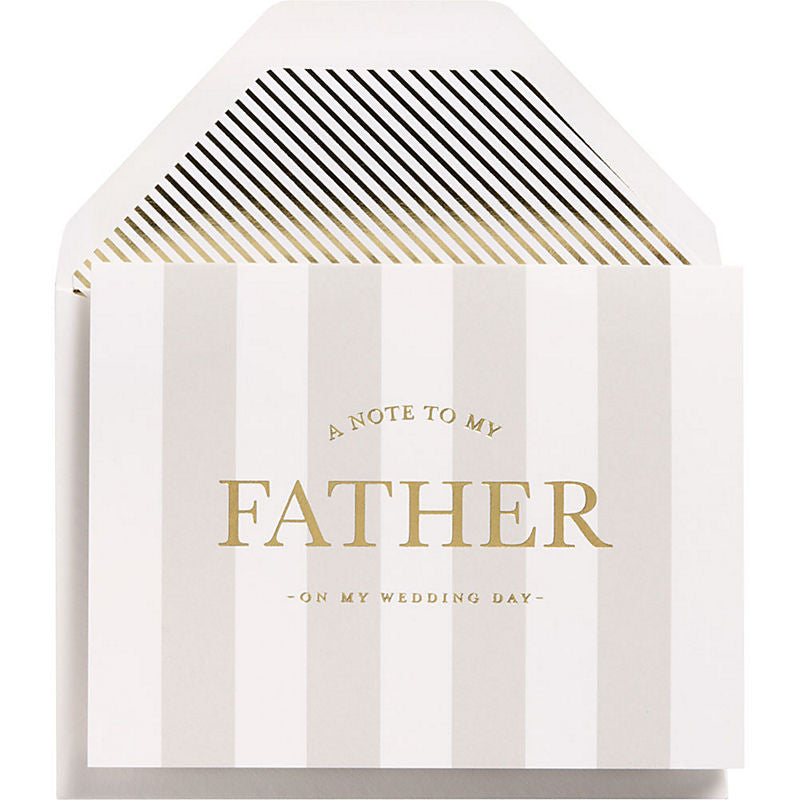 A NOTE TO MY FATHER - WEDDING CARD