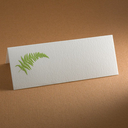PLACE CARDS - TP - FERN ENGRAVED SET OF 10