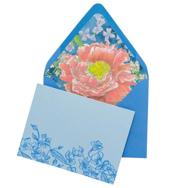 BOXED NOTE CARDS - CBL - PEONY