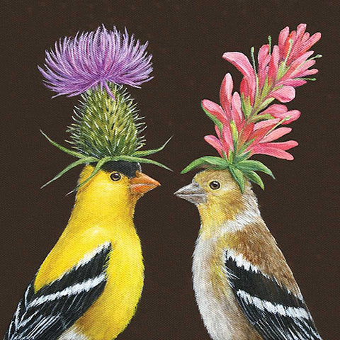 BEVERAGE NAPKINS - PPD - GOLDFINCH COUPLE