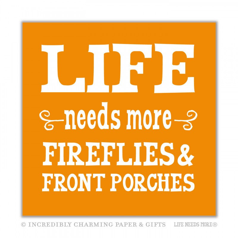 FIREFLIES & FRONT PORCHES - BEVERAGE NAPKINS