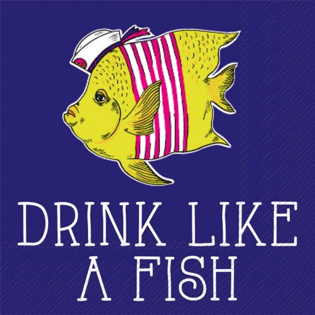 BEVERAGE NAPKINS - RAB- DRINK LIKE A FISH