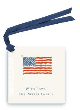 AMERICAN FLAG - GIFT TAG SET