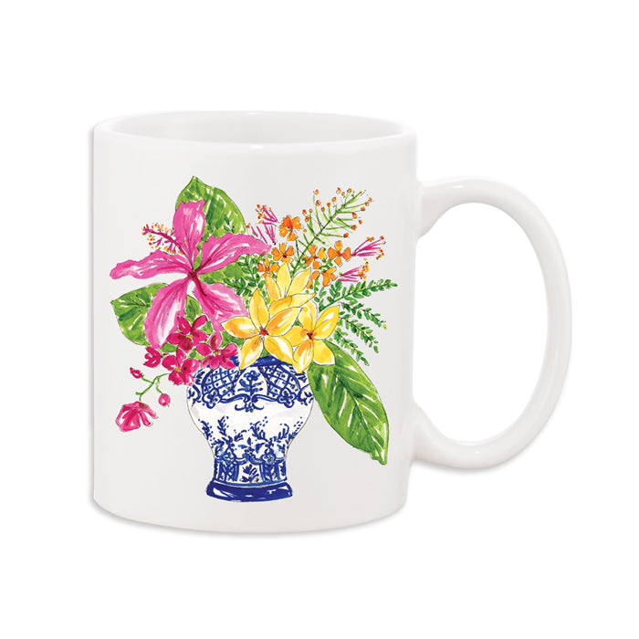MUG -RAB- FLORAL ARRANGEMENT 11 OZ CERAMIC CUP