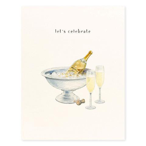 LET'S CELEBRATE CHAMPAGNE - GREETING CARD