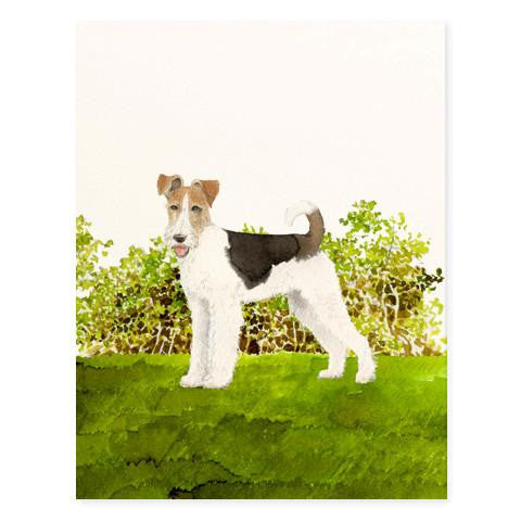 FOX TERRIER - GREETING CARD