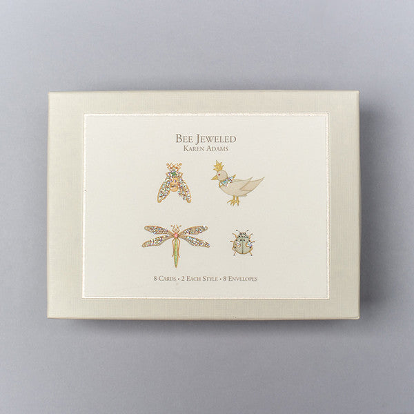 BOXED NOTE CARDS - KA - BEE JEWELED